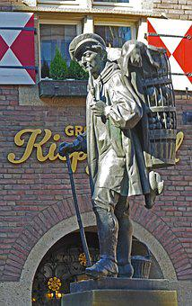 Monument, Kiepenkerl, Münster, Historically, Market