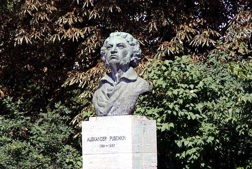 Pushkin, Poet, Weimar, Still Image, Alexander, Bronze