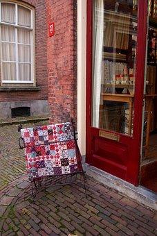 Quilt, Patchwork, Display, Shop, Street, Netherlands