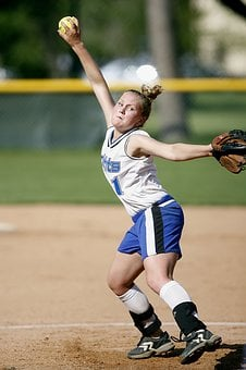 Softball, Pitcher, Player, Action, Pitch, Pitching