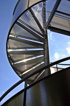Stairs, Spiral Staircase, Scaffold, Architecture