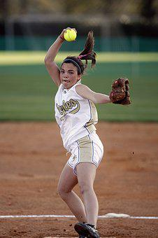 Softball, Pitcher, Pitching, Throwing, Female, Game