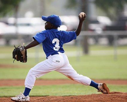 Baseball, Pitcher, Pitching, Action, Throwing