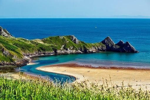 England, Uk, Sea, Ocean, Water, Seashore, Beach, Sand