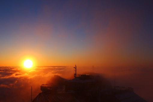 Zugspitze, Bavaria, East Summit, Sunrise, Alpine