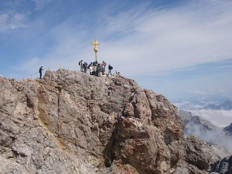 Zugspitze, Summit Cross, Zugspitze Massif, View