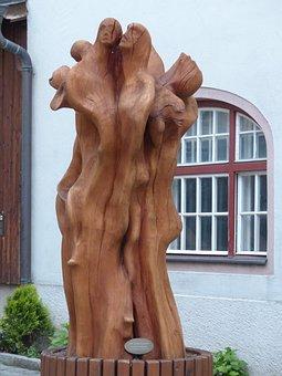 Sculpture, Wood, Wooden Figures, Art, Artwork