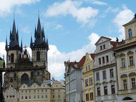 Prague, Old Town, City, Czech Republic, Capital, Space