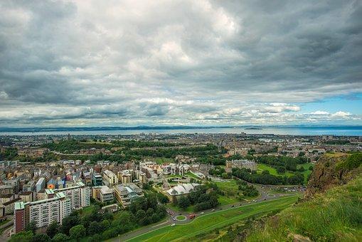 Holyrood Park In Edinburgh, Edinburgh City View, City