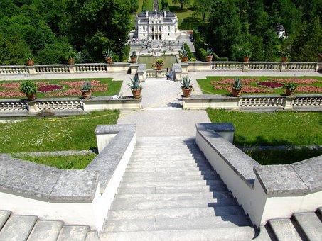Castle, Linderhof Palace, Garden, Architecture