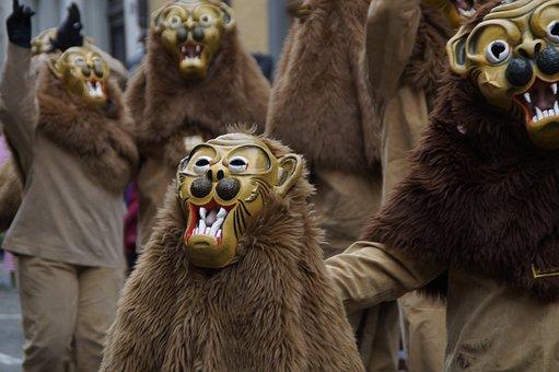 Lion, Tiermaske, Animals, Strassenfasnet, Fools Jump