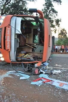 Accident, Road, Bus, Disaster, Overturned, Crash