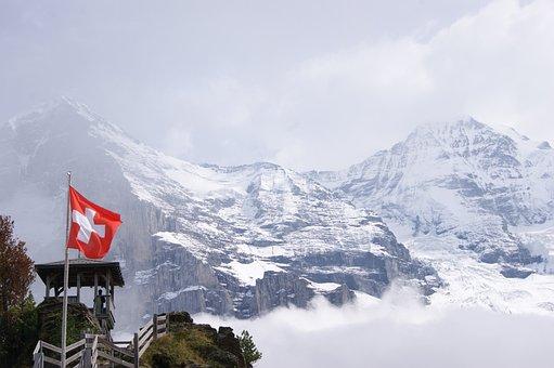 Jungfraujoch, Mountains, Switzerland, Alpine, Snow