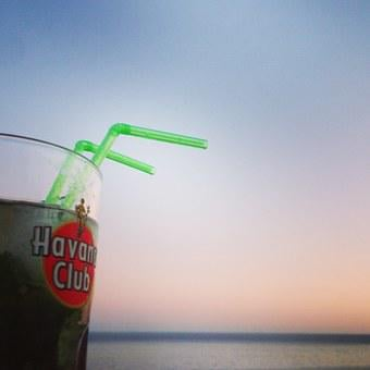 Mojito, Sea, Sunset, Cocktail