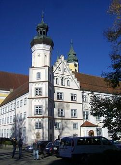 Monastery, Red On Red, Klosterhof, Convent Building