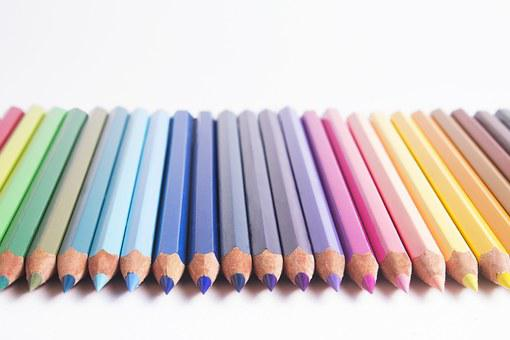 Pencils, Colors, Pastels, Rainbow, Drawing, Artistic
