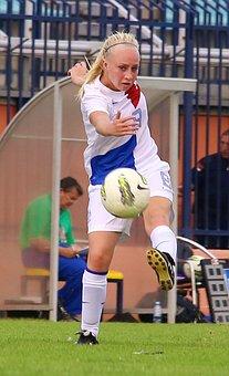Football Player, Soccer, Ball, Shooting, Sport