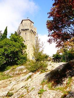 Castle, Nature, Landscape, Tower, Rock