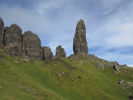 Rock, Peak, Tower, Storr, Skye, Mountain, Climbing