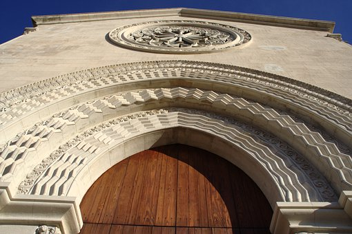 Italy, Sicily, Castelmola, Dom, Church