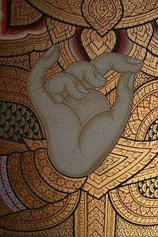 Hand, Gesture, Buddha, Thailand, Thai, Religion