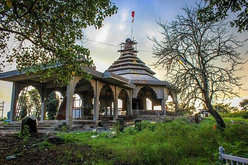 Temple, Ghatandevi, God, India, Landmark, Culture