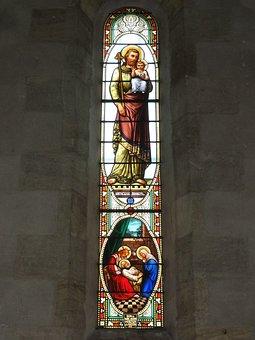 Belin, Gironde, Church, Window, Stained Glass