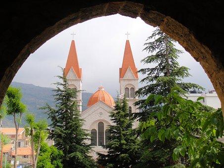 Bsharri, Lebanon, Arch, Buildings, Church, Architecture