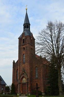 Church, Pray, Christian, Purzien, Saxony-anhalt