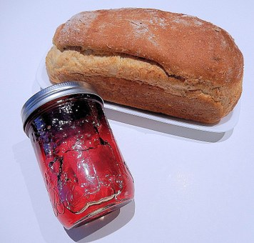 Multi Grain Bread, Crab Apple Jelly, Home Preserves