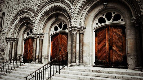 Churches, Doors, Architecture, Buildings, Vintage