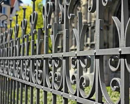 Fence, Fencing, Fenced, Blocked, Metal, Pattern, Church