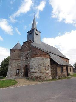 Bancigny, St Nicolas, Church, Building, Historic