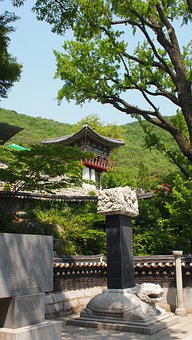 Temple, Korea, Kanghwa, Architecture, Building