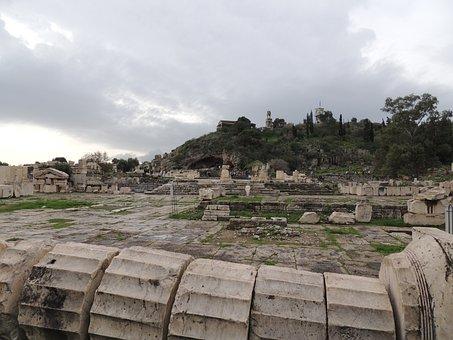 Eleusis, Athens, Greece, Landmark, Culture, Ruins, Old