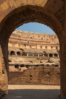 Colosseum, Arch, Rome, Italy, Interior, Monument