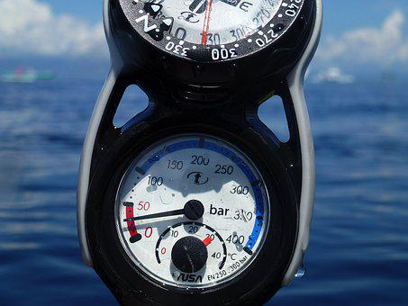 Diving, Finimeter, Air