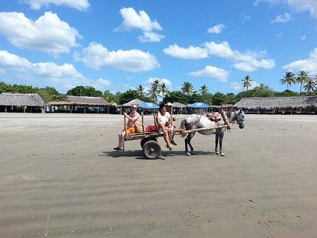 Beach, Pochomil, Nicaragua, Holiday, Peace, Horizon