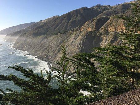 Sea, Waves, Against The Rock, Fair
