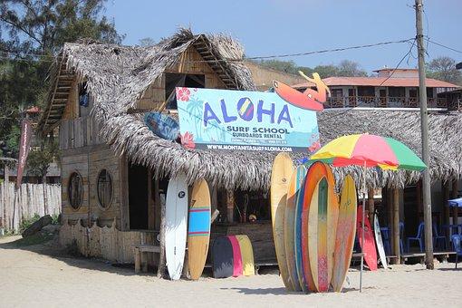 Ecuadorian Beach, Montañita, Surf, South America