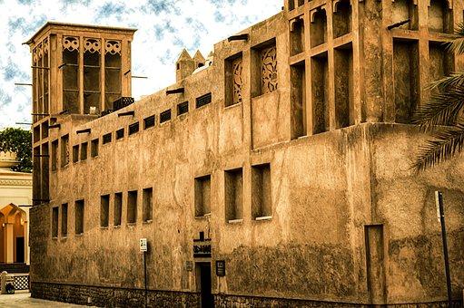 Bastakhia, Dubai, Temple, History, Travel, Building