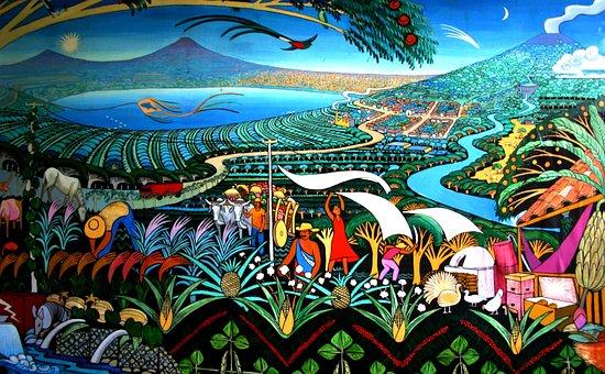 Nicaragua, Murals, Lake, Volcanoes