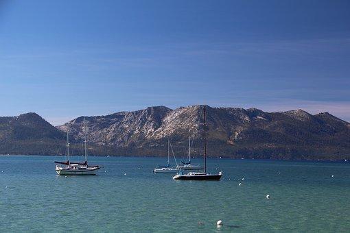 Boats, On Lake Tahoe, Lake Tahoe, Lake View, Boat