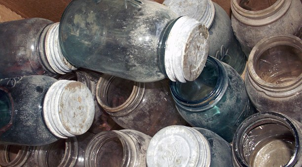 Jars, Old, Glass, Vintage, Containers, Bottles