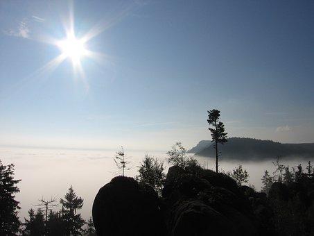 Broumov, Inversion, Sun, Heaven, Sky, Landscape