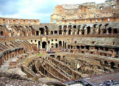 Rome, Colosseum, Interior, Colosseum Interior, Tourism