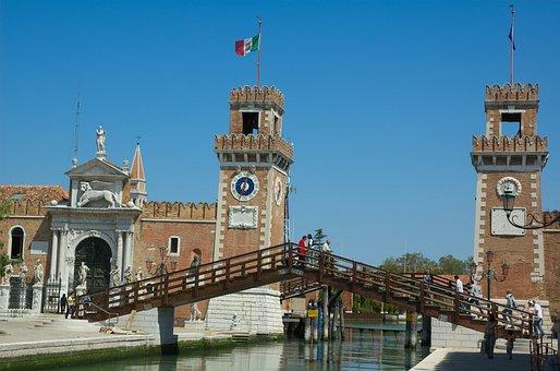 Ponte Dell Arsenale, Footbridge, Venice Arsenale