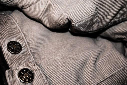 Corduroy, Fabric, Pants, Jacket, Buttons, Material