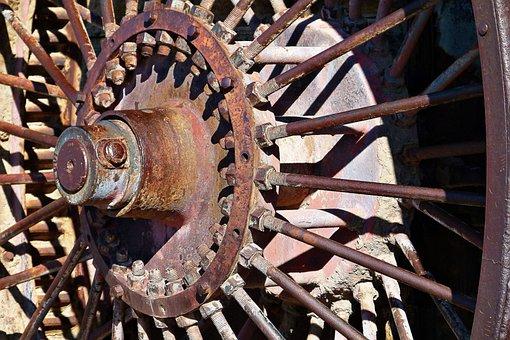 Metal, Tire, Wheel, Hub, Spokes, Heritage, Old