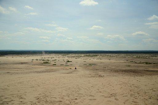 Desert, Sand, Step, Desert Błędowska, Summer, Forest